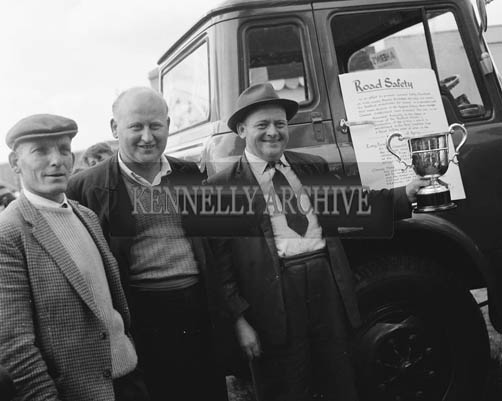 26th/28th May 1964; In an effort to promote improved safety standards on Irish Roads, Messrs. McCairns Motor Ltd, Dublin, the Bedford distributors for Ireland, in co-operation with their main dealers in Kerry, Messrs. Aherns, Castleisland, have presented a cup to be awarded annually to the owner or driver of the Bedford vehicle which is maintained in the best condition from a road safety point of view.