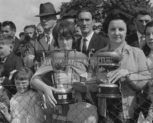 26th/28th May 1964; A photo taken of some of the winners at the Showjumping Events at the Kingdom County Fair in Tralee.