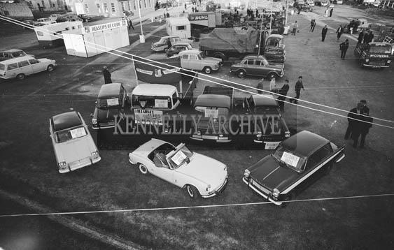 26th May 1964; A photo taken of the Killarney Autos Display at the Kingdom County Fair in Tralee.
