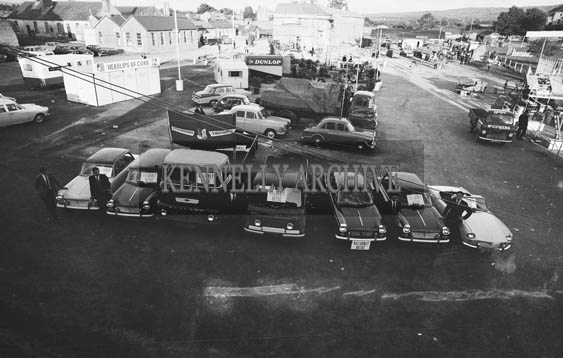 26th/28th May 1964; A photo taken of the Killarney Autos Display at the Kingdom County Fair in Tralee.