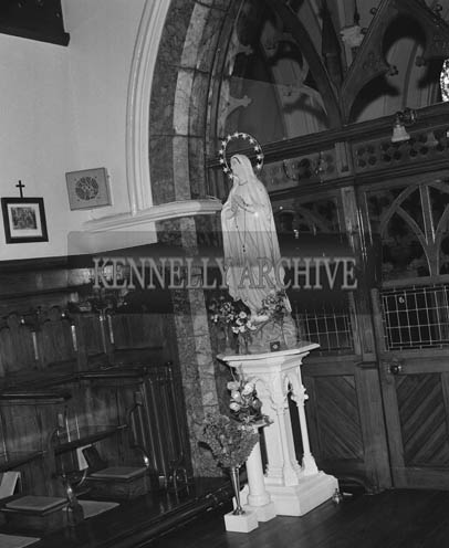 May 1964;  A photo taken of a statue of Our Lady.