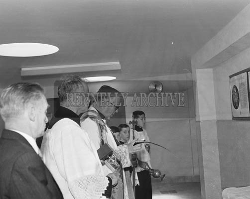 21st May 1964; The new Technical School which was blessed and offically opened by the Right Reverend Monsignor John Lane.