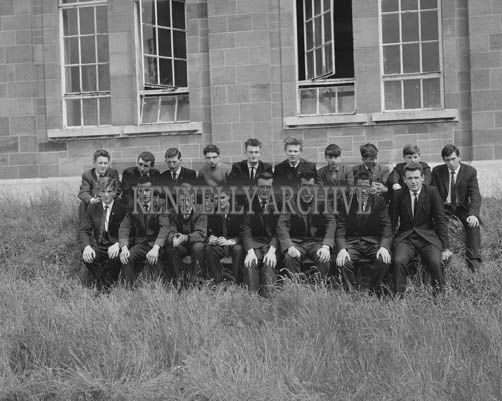 June 1964; A class from Tralee CBS, the Green.