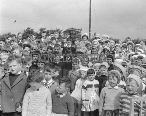 2nd June 1964; A group of students pictured at the opening of the Bouleenshere Ballyheigue School.