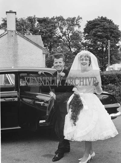 June 1964; A photo taken at the wedding reception of P J and Eileen in the Meadowlands Hotel, Tralee.