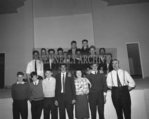 5th July 1964; Members of Portmagee Community Centre at the opening of the centre.