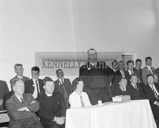 5th July 1964; Mr Bill Butler, Chairman, Portmagee Community Centre Committee, speaking at the opening of the Centre.