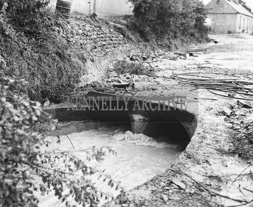 20th July 1964; A photo taken in Kilflynn after a cloudburst in the area caused flooding.