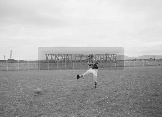 July 1964; Members of the Kerry Senior football team training in Austin Stack Park in Tralee.
