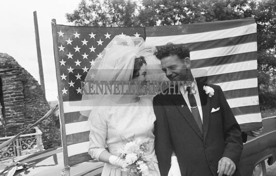 25th July 1964; A photo taken at the wedding of Mary Smith, USA, and John T Cotter in Knocknagoshel.