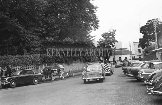 25th July 1964; A photo taken of the wedding car of Mary Smith, USA and John T Cotter in Killarney.