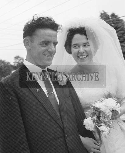 25th July 1964; A photo taken at the wedding reception of Mary Smith, USA, and John T Cotter, Knocknagoshel, in the International Hotel, Killarney.