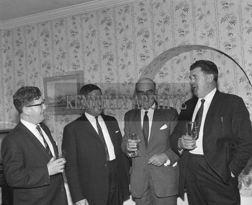 28th July 1964; A photo taken at the Tralee Race Committee Press Conference in Benner's Hotel. Arthur O'Leary is standing on the far left.