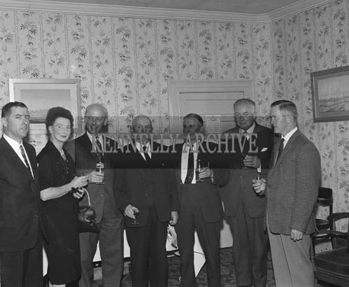 28th July 1964; A photo taken at the Tralee Race Committee Press Conference in Benner's Hotel. John O'Donnell is standing third from right.