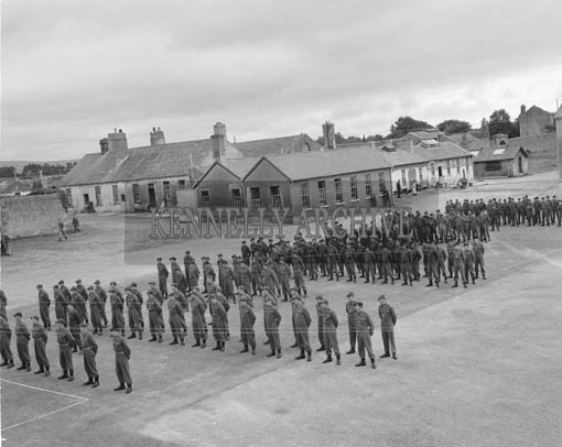 Thursday 30th July 1964; Tralee FCA 'A' Company, winners of the mortar competition at Kilworth at Ballymullen Barracks, Tralee.