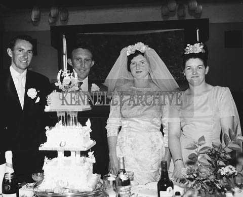 4th August 1964; A photo taken at the Cronin wedding reception the Hotel Manhattan.