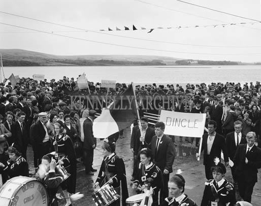 10th August 1964; A photo of the rowing teams on parade at Dingle Regatta.