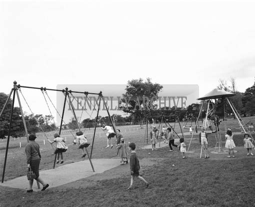 September 1964; A photo of the playground in Tralee Town Park.