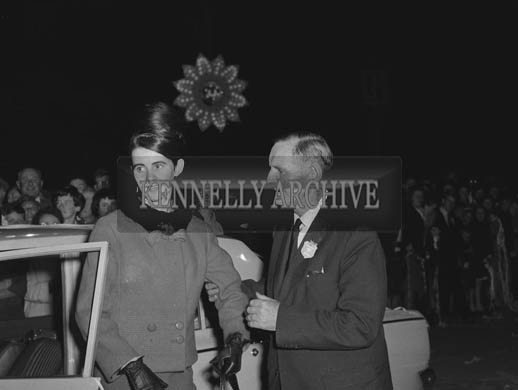 29th August-3rd September 1964; A photo of a rose arriving at the opening of the Festival of Kerry.