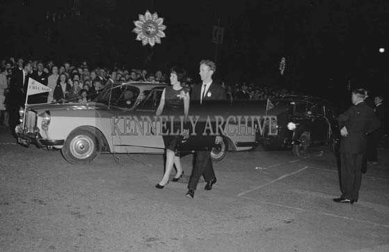 29th August-3rd September 1964; Noel O'Connor escorting a rose to the platform at the opening of the Festival of Kerry.