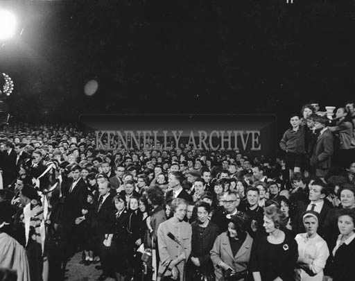 29th August-3rd September 1964; A photo of the welcoming crowd the Ashe Hall at the opening ceremony of the Festival of Kerry.