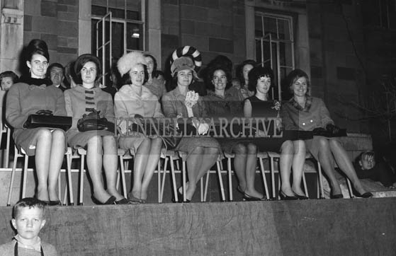 29th August-3rd September 1964; A photo of the roses onstage at the Ashe Hall for the opening ceremony of the Festival of Kerry.