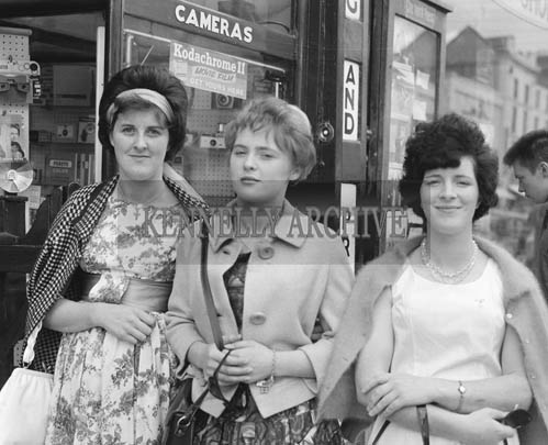 29th August-3rd September 1964; Three women in Castle Street, Tralee, during the Festival of Kerry.