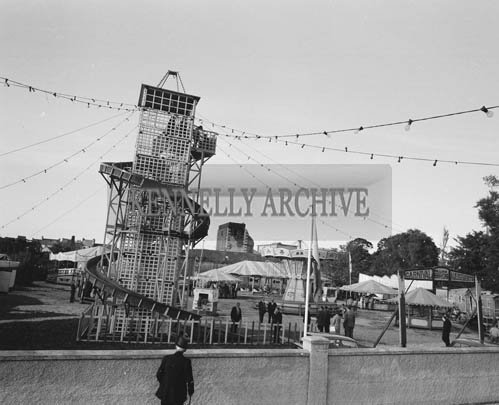 September 1964; A photo of Bird's Amusement's at the Festival of Kerry in the Market, Tralee.