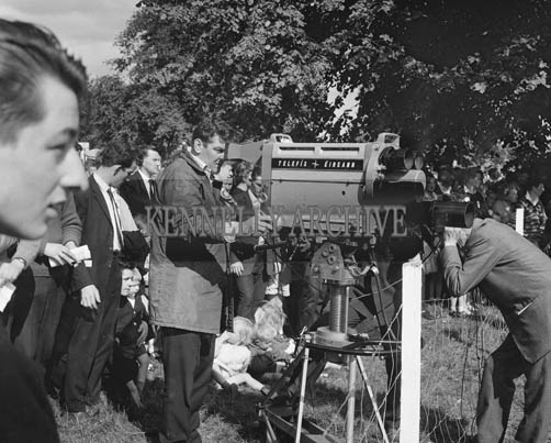 29th August-3rd September 1964; The Teilifis Eireann Outside Broadcast Unit in Tralee Town Park at the Festival of Kerry.