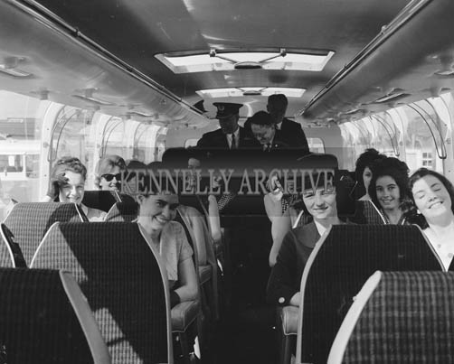 29th August-3rd September 1964; A photo of the Roses on their Tour Bus during the Festival of Kerry.