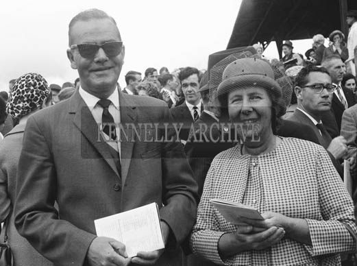 1st-3rd September 1964; People pose for a photo at Tralee Races in Ballybeggan Park, Tralee.
