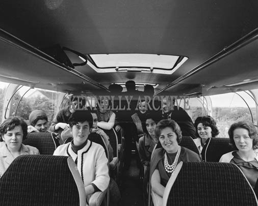 29th August-3rd September 1964; The Roses on their Bus with Patrick Hannagan, CIE, during the Rose Tour.