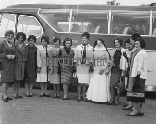 29th August-3rd September 1964; The Roses pose for a photo with a Hospital Sister at the County Hospital, Killarney, during their Tour.