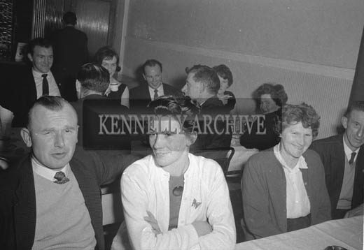 9th January 1964; People enjoying themselves at the Kilmoyley Social in the Hotel Manhattan, Tralee. Music at the dance was provided by the Rhythm Aces.