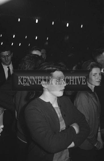 12th January 1964; People enjoying themselves at a dance in Ballymacelligott. Music at the dance was provided by the New Sylvians.
