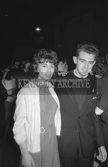 14th January 1964; People enjoying themselves at a dance in the CYMS in Tralee.