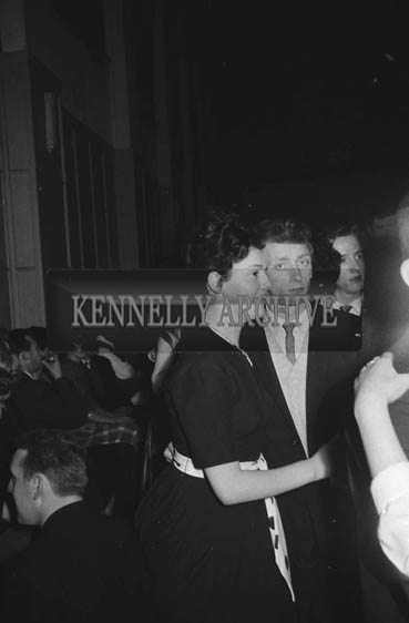 15th January 1964; People enjoying themselves at a dance in the CYMS in Tralee. Music at the dance was provided by the Royal Showband.