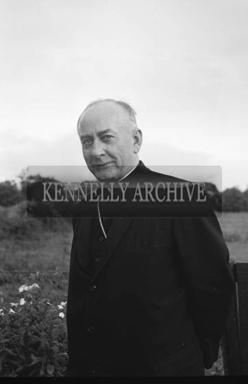 September 1964; His Excellency Most Reverend Archbishop McGuckan of San Francisco at the home of his cousin, James Tagney, Leebrook, Tralee. The Archbishop was on his way to Rome. He celebrated Holy Mass in the Presentation Convent in Castleisland, where his mother was from.