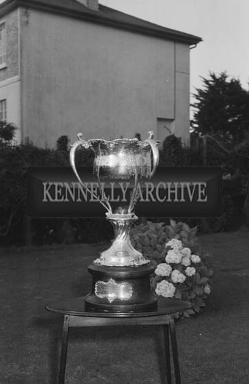 September 1964; A photo of the Jack Dempsey Trophy.