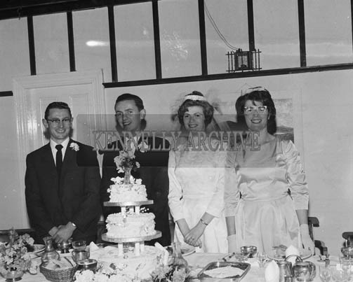 15th September 1964; A photo taken at the wedding reception of Donie Quirke to Teresa Sayers in Dingle.