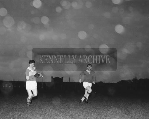 September 1964; A photo of the Senior Kerry Football Team at a training session in Austin Stack Park in Tralee.