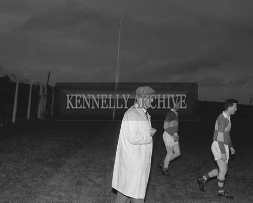 September 1964; A photo of Senior Kerry Football Team Trainer Dr Eamonn O'Sullivan at a training session in Austin Stack Park in Tralee.