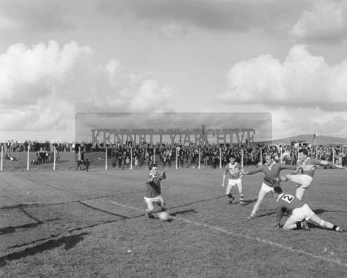 September 1964; A photo taken at the Kerry Trial Match where selectors chose the team to play Galway in the All-Ireland Final.
