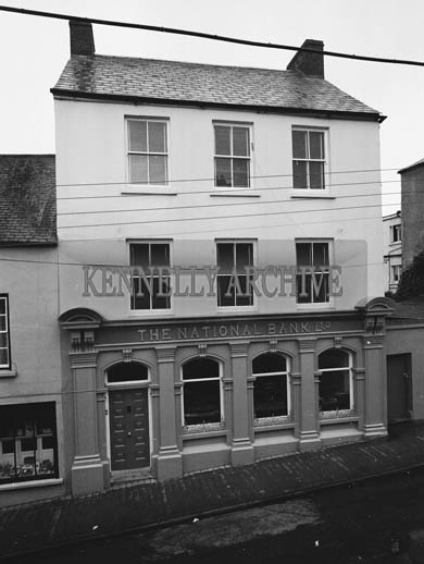October 1964; A photo of the National Bank in Dingle.