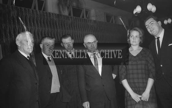 9th January 1964; People enjoying themselves at the Tarbert Milk Suppliers Dance in the Hotel Manhattan, Tralee. Mr and Mrs Tony O'Reilly are on the right of the photo.