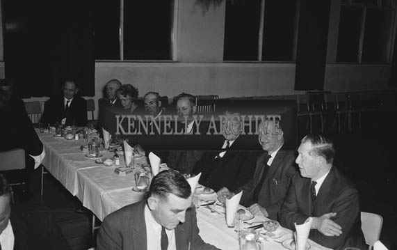 January 1964; A photo of people enjoying themselves at a social in the Hotel Manhattan. Chub O'Connor is seated second from the right.