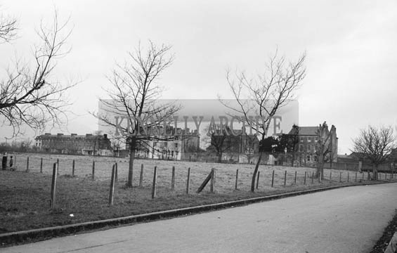 January 1964; A photo of the site clearance to build the Mount Brandon Hotel in Prince's Street, Tralee.