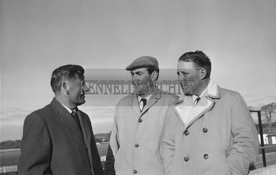 January 1964; A photo including Joe Grace (centre) and Florence O'Connor (left) at Ballybeggan Racecourse.