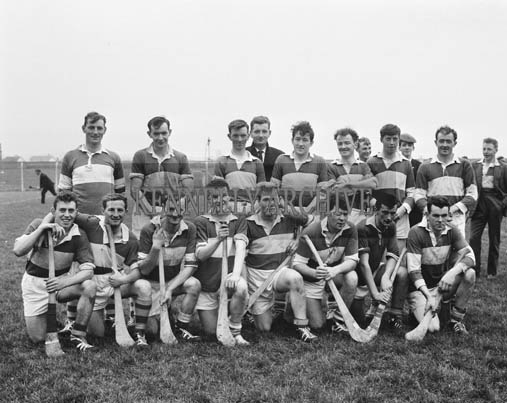 1st November 1964; The Senior Ardfert (St Brendan's) Hurling Team in Austin Stack Park, Tralee before being defeated in a match by Lixnaw 3-6 to 1-4.