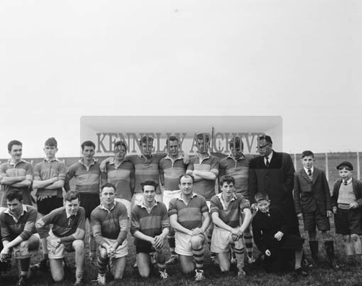 1st November 1964; A photo of a football team in Austin Stack Park, Tralee.